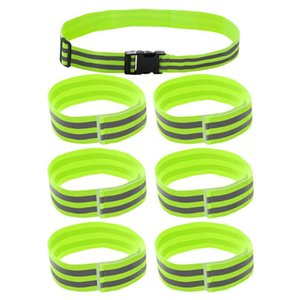 7pcs Reflective Safety Band Durable Lightweight Practicable Reflective Wrist Band Belt for Night Spor