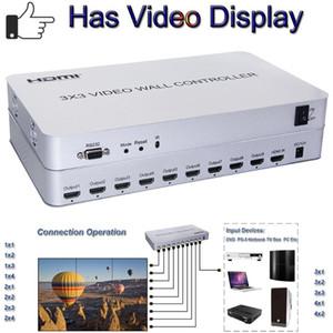 Processore 3x3 HDMI Video Wall Matrix Converter Splicer Splitter 1 a 9 Display 3x2 2x2 3x1 1x3 2x3 4x2 2x4 HDMI Video Controller