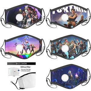 Özel yüz filtreleri ile yeniden facemask fortnite maske Çevrimiçi oyun rol yetişkin çocuk yüz maskeleri mascherina tasarımcı pamuk maske mask
