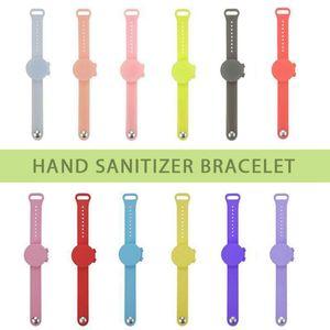 Portátil desinfectante de manos desinfectante embalaje sub-adultos de silicona pulsera de la pulsera de la mano del dispensador pulsera Sanitizer y OOA9133 niños