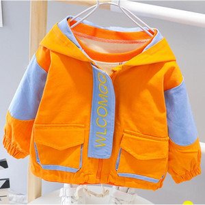 2020 New Spring Autumn Children's Clothing hooded Girl's boys Cartoon Trench coat Long Sleeve Jacket For Boys Fashion Coats