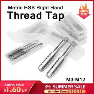 DORESUPP 2Pcs Thread Taps Set Spiral Inch M3 M4 M5 M6 M7 M8 M9 M10 M12 Industrial Metric HSS Right Hand Drill Bits Plug Taps