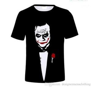 Tshirts Fashion O Neck Short Sleeve Art Designer Mens Tees Joker WHY SO SERIOUS Print Mens