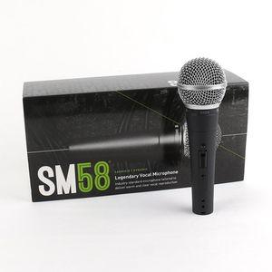Горячая продажа SM58S проводной микрофон с выключателем вокального караоке Ручной микрофон для встречи Stage и домашнего использования с розничной коробкой