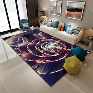 3D Marmorboden Teppich Nordic Geometric Design Teppiche für Wohnzimmer Lounge Room Teppiche Big Blumenmuster Anti-Rutsch-Vorleger