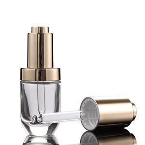 uçucu yağ için benzersiz şeffaf parfüm serumu yuvarlak şekil 1 oz 30ml şeffaf cam damla şişeleri