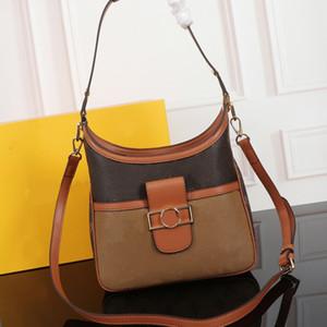 Borsa della borsa di spalla delle donne dei sacchetti di modo Borsa rimovibile Tracolla Vecchio Fiore L Lettera Patchwork Bags Genuine Leather mano Hasp