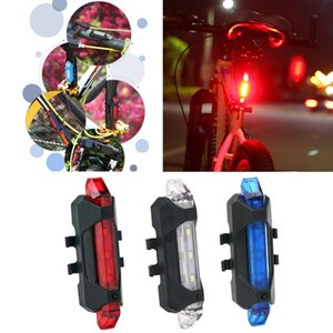 USB Rechargeable Bicycle Taillight Mountain Bike Waterproof Rear Tail Ligh Bicycle Rear Energy Saving LED Light 4 Modes Light