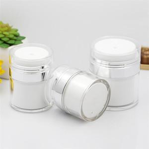 Новый 15 30 50г Pearl White Акриловая безвоздушного Jar Круглый Косметический крем Jar насоса Косметическая упаковка бутылок