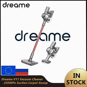 EU Stock Xiaomi Vacuum Cleaner Dreame V11 Cordless Dust Collector One Button Turn ON OFF 25000Pa Suction Carpet Sweep