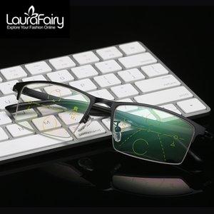 LF Fashion PhotoChromic Brown Gray Reading Classes التقدمي نظارات القراءة متعددة البؤرة انظر بعيدا عن الزجاج ZP035 JDWSN
