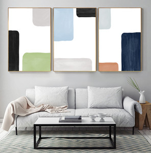 Abstract Golden Square Curve Geometry Combination Canvas Paintings Posters And Prints Wall Art Pictures Living Room Home Decor