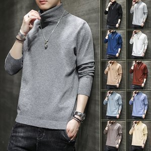 High Collar Sweater Men's Loose Fall Winter 2020 New Trend Multi Color Solid Sweater Fashion Brand Pullover M-5xl