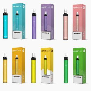 ROMIO PLUS WEGWERFBARE POD Vape Pen 500 Puffs Geräte Kit 500mAh Batterie 3 ml Pre-Filled Pods Pen-Patronen Vapor Ecig Tragbarer