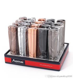 Cheapest MINI Windproof Refillable Butane Gas Lighter Jet Flame Torch Welding Kitchen Lighter Metal Cigar Lighter for Glass Bong Dhl Free