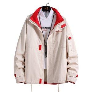 Мужские куртки вскользь Лоскутное пальто Safari Стиль Мужской Pilot С осени Hip Hop Streetwear Ветровка Одежда