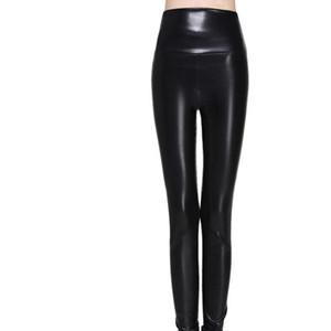 женские леггинсы искусственная кожа качество высокого тонкий леггинсы плюс размер высокой эластичностью сексуальные брюки леггинсы S XL кожаные сапоги леггинсы