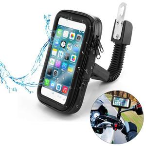 Motorrad Telefonhalter Unterstützung Moto Fahrrad Rückansicht Spiegelständer Mount Wasserdichte Roller Motorrad Telefon Tasche