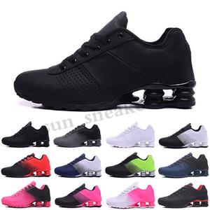 NIKE AIR MAX SHOX 809 803 R4 Nouvelle arrivée Livrer SHO 809 course Triple blanc noir Chaussures pour hommes Rose Gris Noir LIVRER OZ NZ Mode Hommes Baskets Chaussures RG06