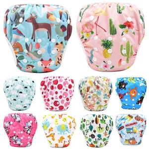 Asenappy Bebek Yeniden kullanılabilir 1PC Swim Bezi Karikatür Mayo Çocuk ayarlanabilir yaz yüzme Nappy pantolon Bezi