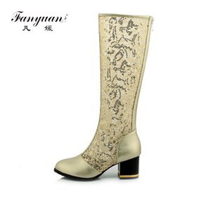 Women Knee High Summer Autimn Boots Sexy Fashion Cut-outs Pointed toe Shoes Ladies White Black Gladiator boots