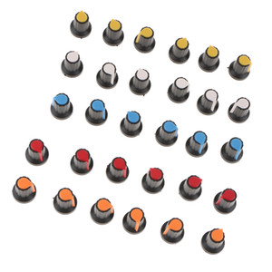 30PCS WH148 AG2 potenciómetro perilla sombrero amarillo-naranja rojo