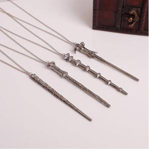 패션 필름 매직 영화 팬 마술사 창조적 목걸이 남성용의 빈티지 ps1981 펜던트 목걸이 체인 세트 여성 지팡이