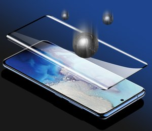 500Pcs Lot 3D Curved Tempered Glass Full Cover Screen Protector For Samsung Galaxy S20 Ultra S10 Plus S9 Note 10Pro 9 free shippping