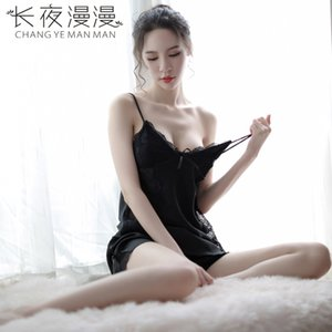 sexyLong Night MANMAN нового сексуальное женское белье пижамы соблазн большой спинки подвязка ночная рубашка юбка