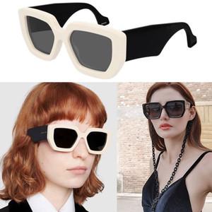 Дизайн одежды солнцезащитные очки с большой цепью 0630 / S 001 квадратная рамка классический стиль качества высокого UV400 защиты мужчин и женщин общие очки
