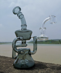 Glass Bong Dab Oil Rig Bowl Quartz Banger Water Pipe Perc Heady Bongs Rigs Pipes Smoking Wax Glass Recycler Hookahs
