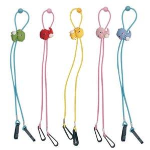 Children Masks Lanyard Adjustable Hang Rope Cartoon Extension Rope Face Mask Rest Ear Holder Rope Hang Neck String Party Favor OOA9091