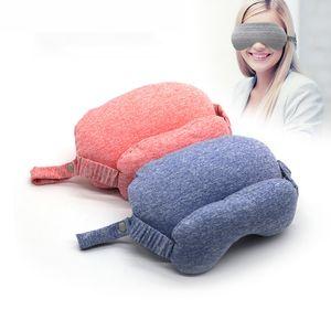 Портативный U-образная подушка Многофункциональная Eye Mask Neck Pillow Ручка Airplane офис Дремая удобные подушки домашнего офиса Декор VT1681