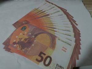 Оптовая Ночной бар Высокое качество Притворись Euro Реквизит Поддельные деньги Play Money Поддельный 100 шт заготовок / пакет