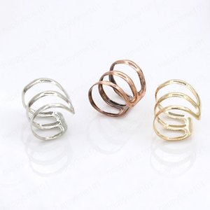 Retro U-Shaped Ear Clips Simple Triple Hoop Ear Cuff Earrings for Women Girls No Piercing Gift