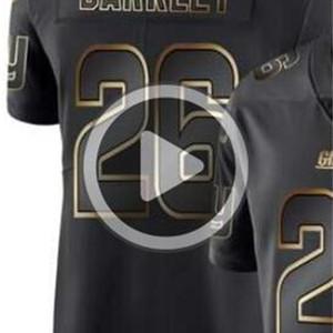 Мужской Нью-Йорк 33 26 14 Джерси NYG рубашка Man Vapor Limited Black Golden Джерси американские трикотажные изделия