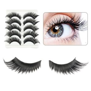 5 Pairs Natural False Eyelashes Fake Lashes Long Makeup 3d Mink Lashes Eyelash Extension Mink Eyelashes for Women Beauty Tools