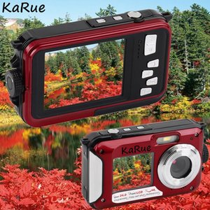 karue H268 1080P Waterproof Digital Camera Max 24MP Double Screen 16x Zoom Camcorder 5MP COMS 2.7 Inch + 1.8 Inch S