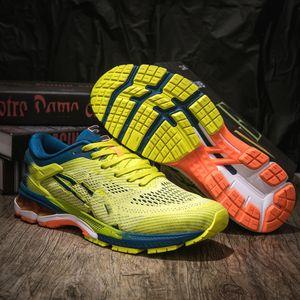 Asics GEL-Kayano 5 360 2020 new Chaussures de marche GEL-Kayano 360 5 jeunes hommes Rodage Rembourrage gel Chaussures étudiants Blanc Vert Sneakers1988