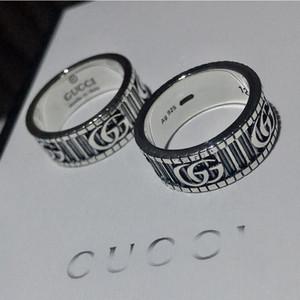 Ringe aus Titan Edelstahl-Liebes-Ringe für Frauen Männer Schmuck Paare 925 Sterling Silber Hochzeit keine Box 6mm Ringe