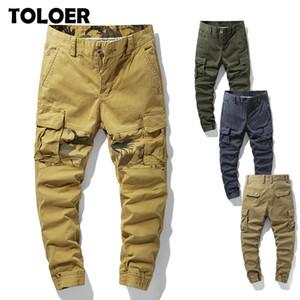 Pantalones de carga de los hombres del Ejército Trajes Ropa tácticos pantalones masculinos Multi Trabajo bolsillo de la manera hombres rectos de los pantalones Joggers