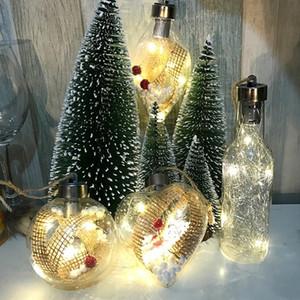 Beautiful Christmas Tree Ball Luminous Plastic Bulb Shape Light Party Home Decor Wall Hanging Ornament Hotel Night Lamp Gift