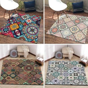 Bohemian Large Area Rugs Living Room Bedroom Decor Carpet Persian Style Rectangular Entrance Doormat Kitchen Non-Slip Floor Mats