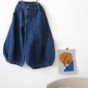 New Fashions Fall Kids Boys Girls Jeans Denim Trousers Korean Puff Jeans Girls Boys Casual Denim Pants Long Trousers Children Clothes