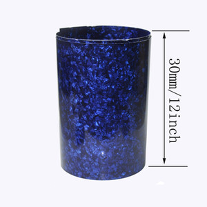 Gauge 0.46mm Pearl Blue Celluloid Sheet Drum Wrap for Guitar Drum Luthier 63x12inch