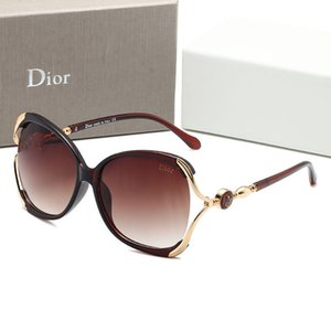 2020LHigh quality classic sunglasses designer brand men and women sunglasses glasses bright dark brown inside yellow case