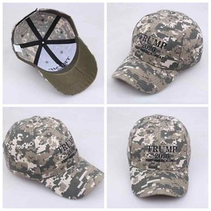 Donald Trump Hats 2020 Keep America Great Party Hat Camouflage 3D Embroidery Sport Baseball Cap ZZA2116 30PcsN