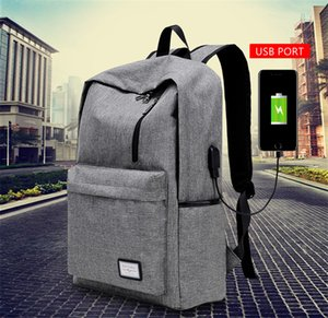 High Quality Backpack Nylon Teenager School Bag Tech Backpack Women Daypack Rucksack Laptop Bag with USB Charge Port