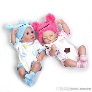 Cute lovely reborn baby doll 10inch can bath into water vinyl doll