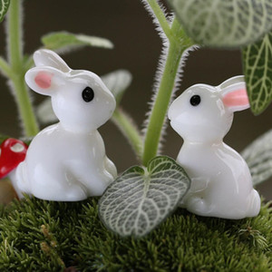 Lovely Miniature Mini Resin Rabbit Garden Fairy Ornament Flower Plant Pot Home Figurine Animal Decor